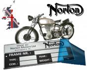 NORTON N1 VIN PLATE