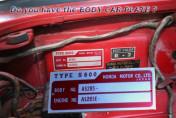 HONDA CAR S600 H