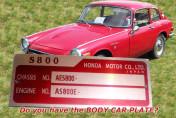 HONDA CAR S800 H