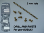 RIVETS / Calibrate drill tip - To use with hole 3 mm