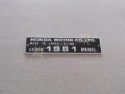 CR250R 12/80 1981 MODEL