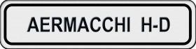 Aermacchi H-D - VIN PLATE