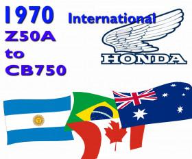 Honda 1970 Not USA plate