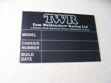 TWR car plate